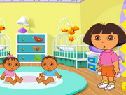 Play Dora's Playtime With The Twins