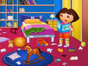 Play Dora Study Room Cleaning