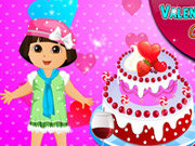 Play Dora Valentine Day Cake