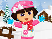 Play Dora Winter Fashion Dressup