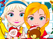 Play Elsa And Anna Babies Christmas Shoping