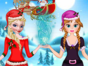 Play Elsa And Anna Helping Santa
