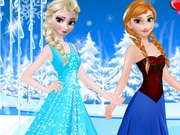 Play Elsa and Anna Party Dresses