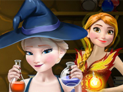 Play Elsa and Anna Power Potions