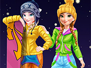 Play Elsa and Anna Winter Vacation