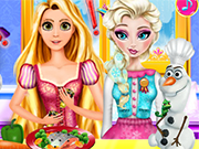 Play Elsa And Rapunzel Cooking Disaster