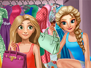 Play Elsa And Rapunzel Dressing Room
