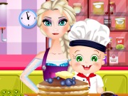 Play Elsa And Rosy Pancakes Day