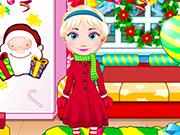 エルザは、赤ちゃんのクリスマスを祝います