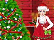 Play Elsa Christmas House Prep