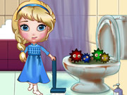 Play Elsa Clean Bathroom