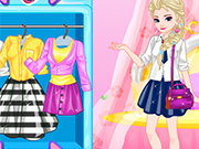 Play Elsa College Dress Up 2
