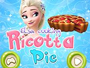 エルザは、リコッタパイを調理します