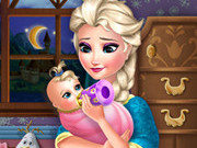 Play Elsa Frozen Baby Feeding