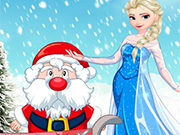 Play Elsa Helps Santa
