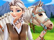 Play Elsa Horse Caring