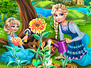 Play Elsa Mommy Gardening