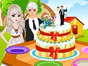 Play Elsa Princess Wedding Cake