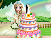 Play Elsa's Wedding Cake Cooking