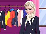 Play Elsa School Uniform
