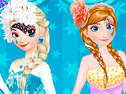 Elsa vs Anna Make Up Contest