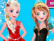 Play Elsa With Anna Dressup