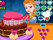 Play Elsas Valentines Day Cake