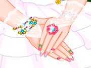 Play Fairy Barbie Wedding Nails