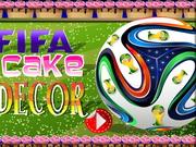 FIFAケーキの装飾