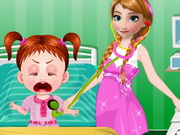 Play Frozen Anna Baby Doctor