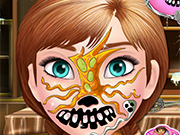Play Frozen Anna Halloween Face