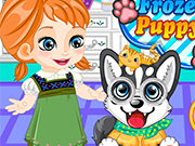 Play Frozen Anna Puppy Caring