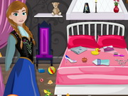 Play Frozen Anna Room Cleaning
