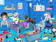 Play Frozen Babies Room Cleaning