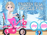 Play Frozen Elsa Bicycle Fun