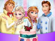 Play Frozen Family Cooking Wedding Cake