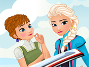 Play Frozen Journey Dress Up