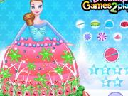 冷凍プリンセスドレスケーキの装飾