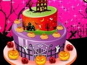 ハロウィーンの特別なケーキの装飾