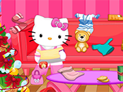 Play Hello Kitty Christmas Room Clean Up