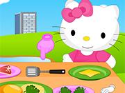 Play Hello Kitty Cooking Princess Burger
