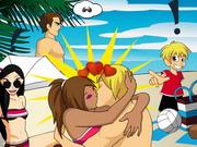 ザ・ビーチでキスゲーム