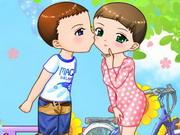 愛のキスカップル