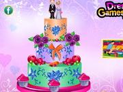 甘美なウエディングケーキの装飾