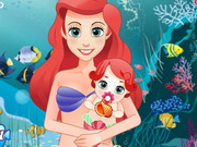 Play Mermaid Ariel Give Birth To A Baby