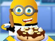 ミニオンのバナナケーキを調理