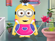 Minion Girl Fix The Batroom