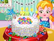 新年紙吹雪ケーキ