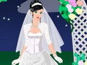 夜の花嫁ドレスアップ