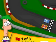 Play Phineas And Ferb Car Race
